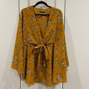 NASTYGAL Floral Patterned Tunic